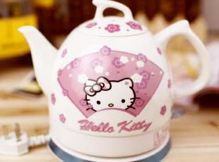 原单hello kitty 陶瓷电热水壶 创意礼品,水壶,