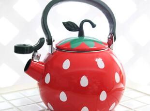 【韩国进口家居】可爱草莓形状图案不锈钢烧水壶 n1191,水壶,