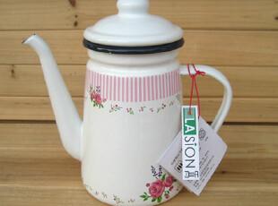 LASION 新品 正品 英伦玫瑰 1.1L搪瓷壶 咖啡壶 油壶 冷水壶,水壶,