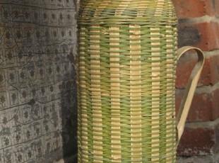 Fan's zakka杂货 天然竹编怀旧热水壶 保温壶 热水瓶(不含内胆),水壶,