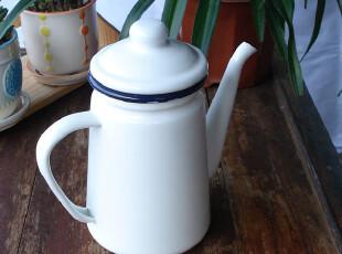 雨花石杂货1.1L纯白系搪瓷油壶 咖啡壶 水壶 酱油壶 醋壶,水壶,