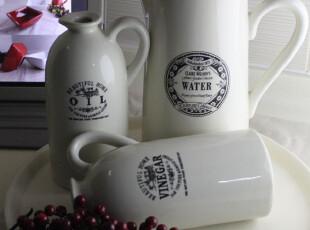 厨房时尚出口陶瓷套装 外贸凉水壶 油瓶醋壶 果盘 创意,水壶,