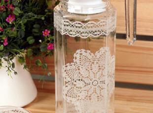 来自日本 雪花蕾丝透明水晶玻璃冷水壶 1000ml,水壶,