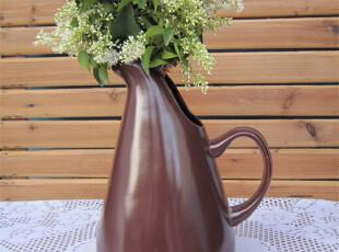 外贸陶瓷 瓷器餐具欧美名品新骨瓷特大凉水壶/欧式奶壶/花器两用,水壶,