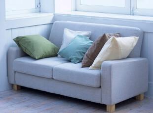 2012现代简约两二双人沙发布艺沙发美式田园地中海 蓝色纯色可选,沙发,