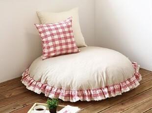 韩国进口-超可爱的 田园小公主 花边式圆形环保地沙发 懒人沙发,沙发,