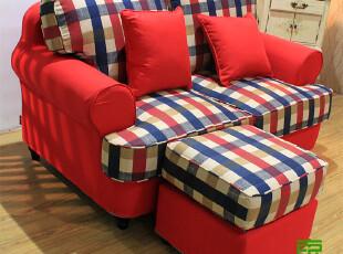 东居 混搭 美式沙发 美式比邻乡村 风格 布艺沙发 双人沙发,沙发,