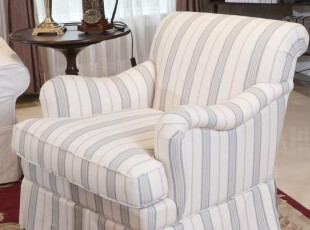 2012简欧式田园 美式乡村 地中海 条纹褶皱裙边 老虎椅 单人沙发,沙发,