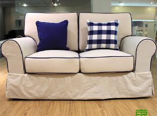 东居 现货 简欧 宜家 地中海 混搭 布艺沙发三人组合 套装,沙发,