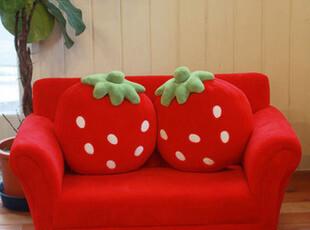 出口日本Mother Gardenの甜美草莓超可爱单双人沙发 附草莓抱枕,沙发,