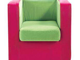 周家庄家具 特价包邮 时尚简约小巧可爱单人布艺儿童沙发ET彩立方,沙发,