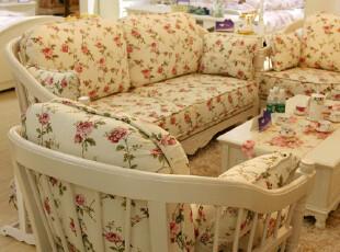 德家 韩式家具 田园沙发 布沙发 实木 布艺沙发组合 938-1 特价,沙发,