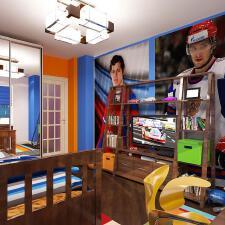 爱体育,运动系男孩的卧室