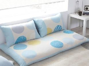 韩国进口代购正品家居 简约蓝色圆圈懒人沙发2色,沙发,