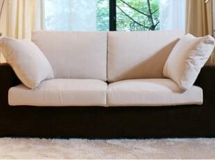2012田园乡村北欧宜家简约日式现代黑白客厅布艺沙发双二两人沙发,沙发,