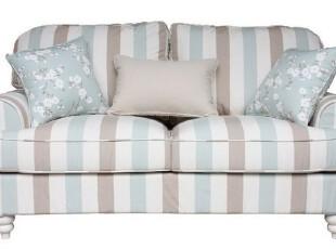 粤鑫家居布艺沙发060条纹简约地中海风格双人客厅简欧组合家具,沙发,