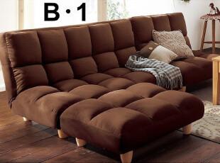 新款-多人组合沙发 布艺沙发 组合 布艺 可调节靠背档位 日本沙发,沙发,