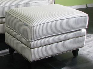 艾米尼奥经典地中海家具欧式乡村布艺条纹凳欧式凳搁脚凳E412-0,沙发,