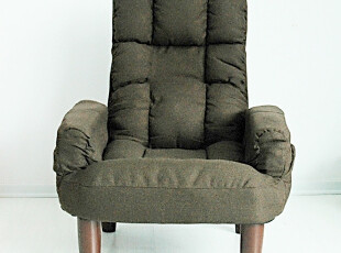 高档布艺休闲椅 单人沙发 家居沙发 麻布沙发 日式沙发 地板椅,沙发,
