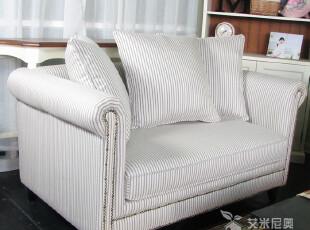年中大促现货艾米尼奥家具地中海欧美式客厅布艺双人位沙发E412-2,沙发,