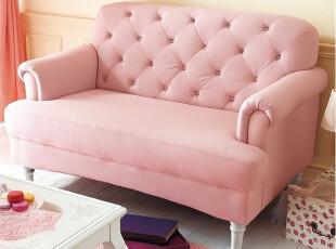 出口日本 外贸原单 精致沙发 布艺沙发 粉色沙发 可爱沙发 3色,沙发,