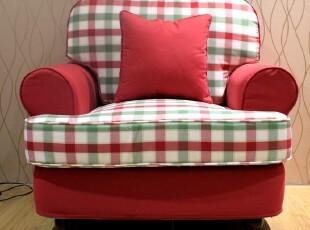 粤鑫家居混搭地中海沙发宜家沙发暖色单人三人组合美式布艺,沙发,