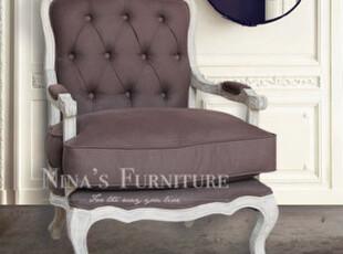 Nina出口法国家具 超美仿古单人沙发 古典咖啡款 特价 现货,沙发,