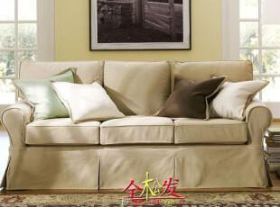 (仿PotteryBarn家具FSO071)Basic三人沙发/超Harbor House,沙发,