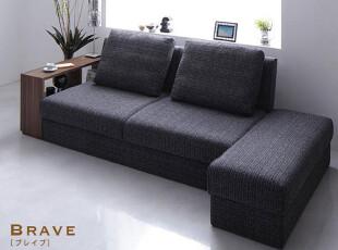 出口日本原单 带靠枕带置物架带书架超大收纳布艺沙发床,沙发,