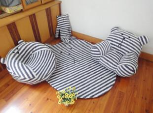 梨花条纹熊沙发 可爱实用卡通 优质家居儿童沙发/懒人沙发 可拆洗,沙发,
