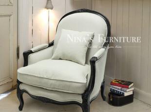 Nina出口法国家具 外贸Lauren仿古实木雕花沙发椅 单人沙发扶手椅,沙发,