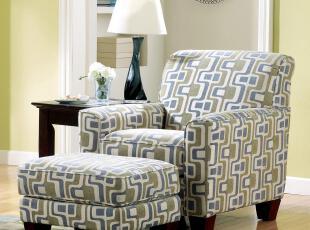 艾米尼奥地中海家具小户型书房单人布艺沙发可送货上门YES-020,沙发,