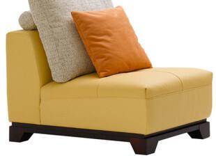 正品特价 顾家家居 工艺 真皮 单人无扶手 宽80CM 沙发 家具1127,沙发,