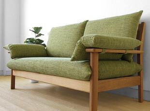 木聪良品家具日式实木北欧现代风格白橡木实木沙发小户型SF-503-2,沙发,