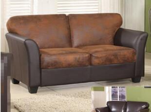 简适.轩 双人皮革沙发 布艺配皮沙发 欧美原单沙发 舒适超值沙发,沙发,
