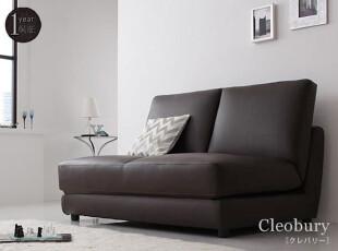 出口日本原单 皮艺沙发床 地板沙发 宜家风格小户型双人沙发床,沙发,
