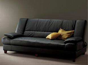 真皮沙发床 多功能1.2米沙发床 日式家具 头层牛皮沙发,沙发,