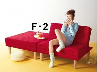 出口日本原单 多功能折叠沙发床 宜家风格 布艺沙发 单人床 特价,沙发,