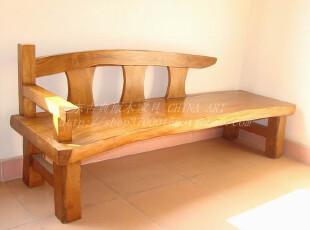 实木沙发/客厅沙发/长沙发/老榆木沙发/原木沙发凳11M153,沙发,
