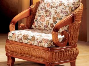 藤家具藤编布艺沙发客厅沙发藤制沙发实木藤沙发藤艺单人沙发藤椅,沙发,
