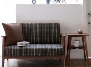 日式家具 小户型沙发 双人实木布艺沙发 客厅 江浙沪包邮诺柏美卡,沙发,