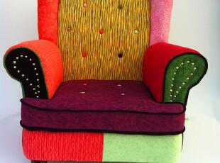 时尚欧式复古沙发多彩混搭布艺沙发 单人双人三人沙发顾家沙发,沙发,