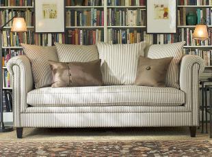 现货艾米尼奥家具地中海蓝绿咖色条纹布艺小户型客厅三人沙发E412,沙发,