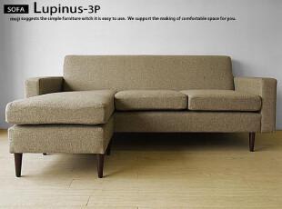 木聪良品家具日式实木北欧现代风格白橡木布艺沙发小户型SF-801-1,沙发,