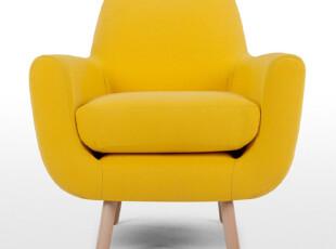 爱家主场单人沙发 时尚 布艺沙发现代简约 个性单人沙发 特价,沙发,