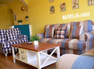 私家生活包邮全拆洗韩式田园沙发单人双人三人客厅组合布艺沙发,沙发,