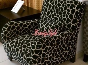 现货~出口美国现代简约休闲风格实木布艺软包休闲沙发单人沙发,沙发,