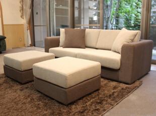 三喜隆布艺沙发 多功能组合脚踏沙发 双脚踏日式沙发 现代简约,沙发,