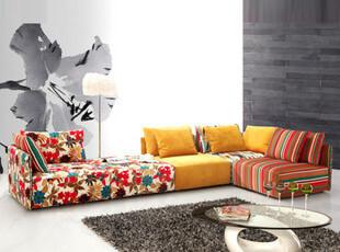 达达家居 特价包邮 现代时尚简约 多人客厅组合 彩色绒布艺沙发,沙发,