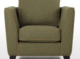 爱家主场单人沙发 时尚布艺沙发现代简约 创意单人沙发 十大品牌,沙发,